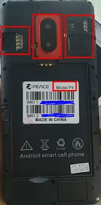 Peace P4 flash file without password