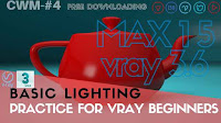 Vray 3Ds MAX Tutorial | Basic lighting Patrice for Vray Beginners