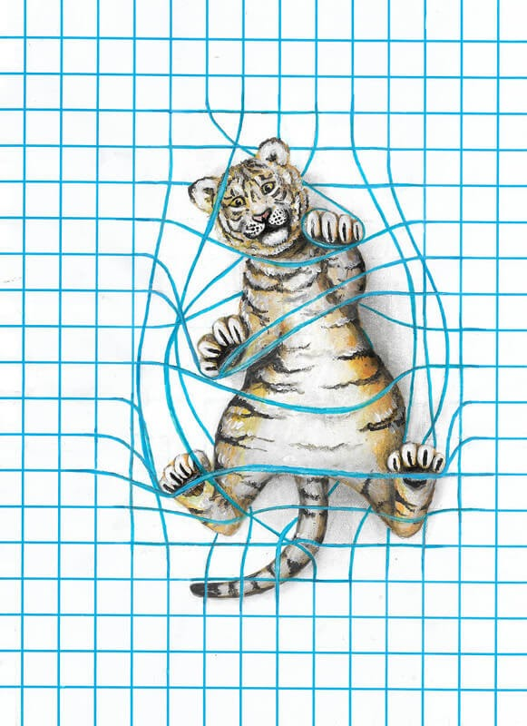 04-Tiger-Cub-Iantha-Naicker-Drawing-of-Lines-and-Animals-www-designstack-co