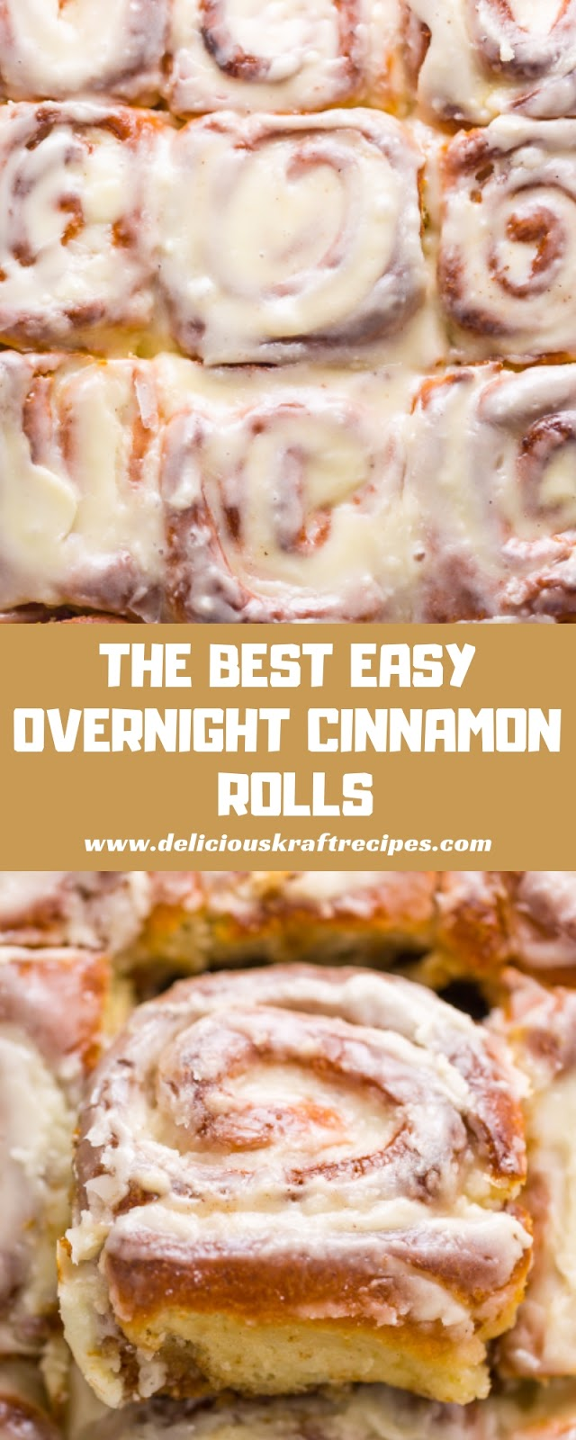 THE BEST EASY OVERNIGHT CINNAMON ROLLS