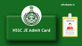 HSSC JE Admit Card