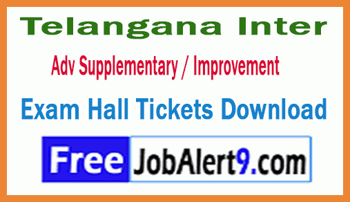 TS Inter 1st / 2nd Year Support / Improvement Exam Hall Tickets Download