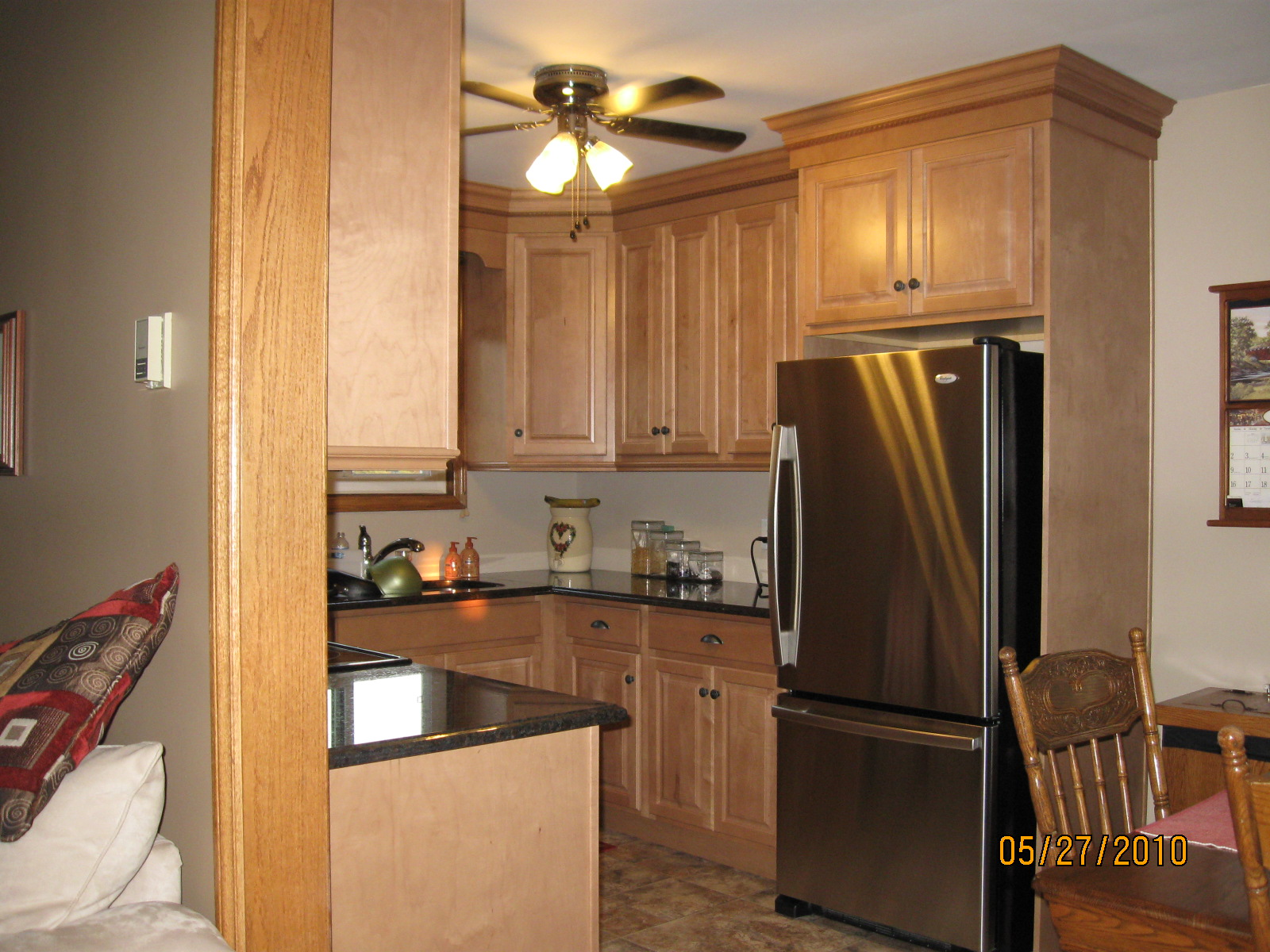 Maple Cabinets with Granite Countertops