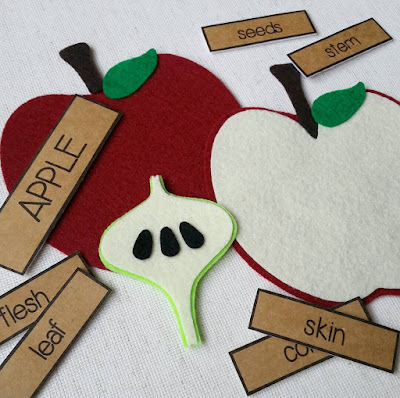 felt apple from Circle Time Designs
