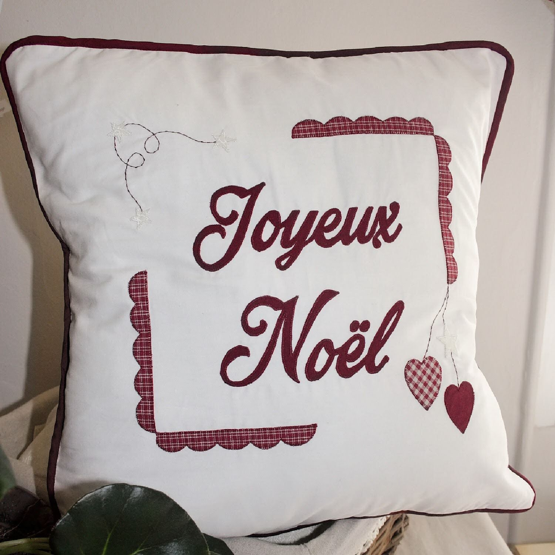 Déco Noël 2018, Décoration Noël tissu, housse de coussin