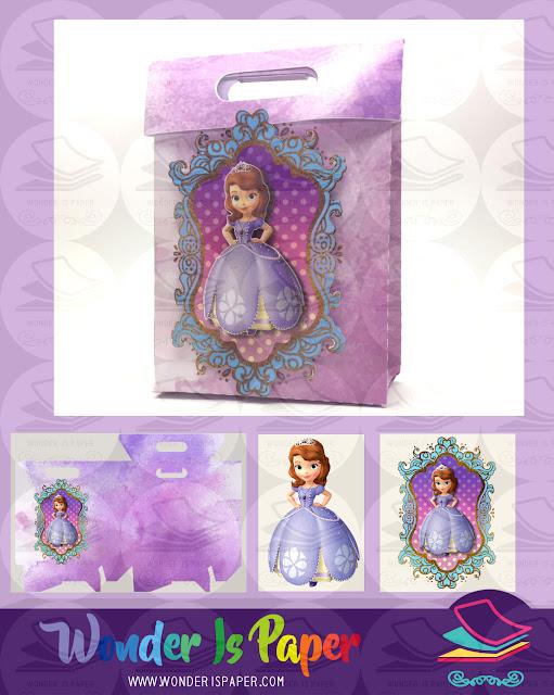 Caja princesa Sofia + 3D