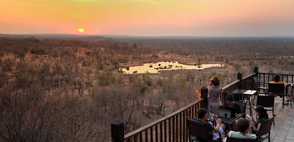 Victoria Falls Safari Lodge Buffalo Bar Terrace