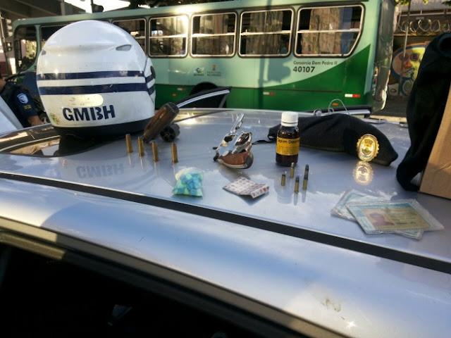 Guarda Municipal de Belo Horizonte (MG) prende dois homens com armas e droga sintética
