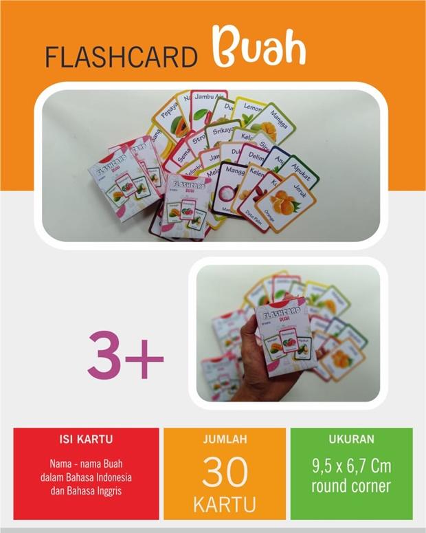 Flash Card Buah Buahan