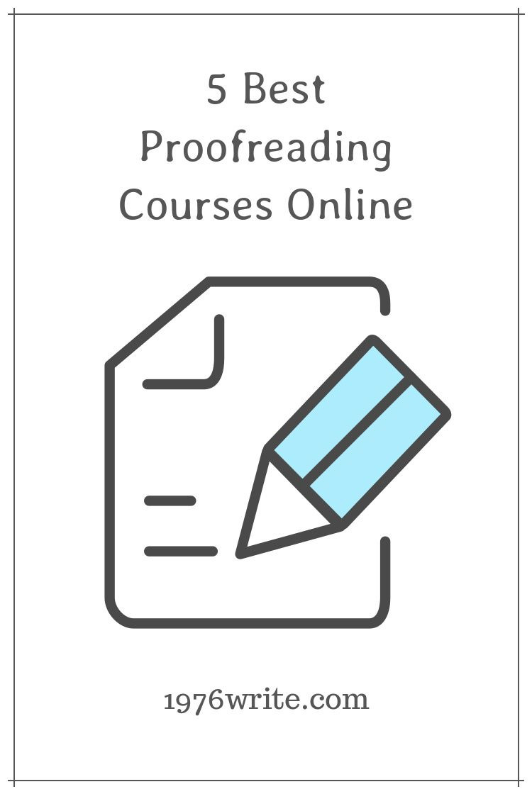 1976write: 5 Best Proofreading Courses Online