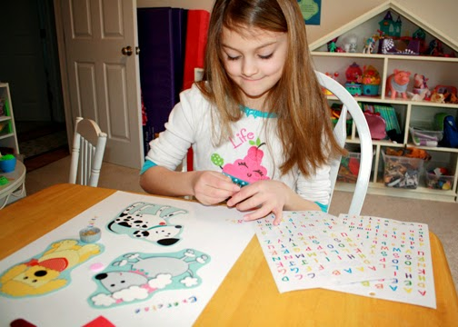 Tessa used Hot Diggity Dogs Cut-Outs by Carson-Dellosa, and letters and stickers from the dollar store as the foundation of her poster.