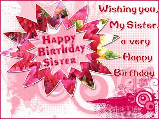 Happy Birthday Sister Greeting