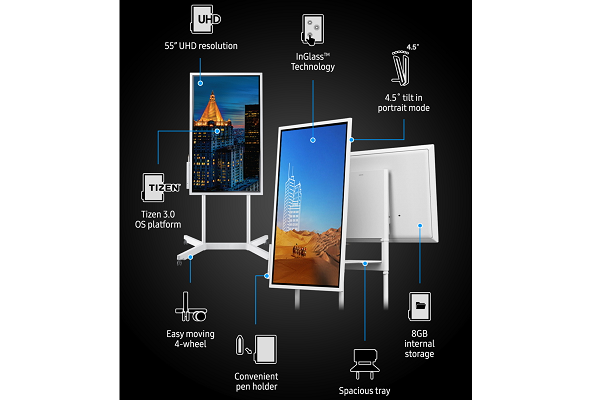 CES 2018: SAMSUNG launches Flip WM55H interactive digital flip chart display