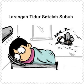 Larangan tidur setelah subuh