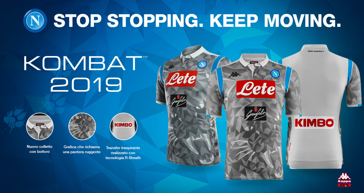 Light grey shorts and socks complete the new Napoli third kit. 085d8aa2d