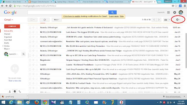 """Cara Mengaktifkan """"Undo Send"""" Pada Gmail"""