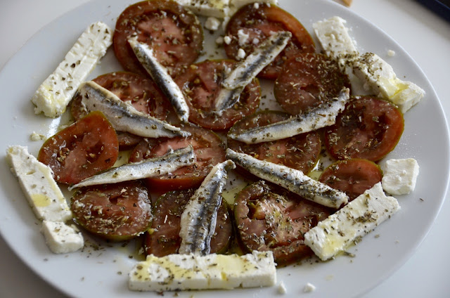 KUMATO TOMATO, ANCHOVIES AND FETA SALAD