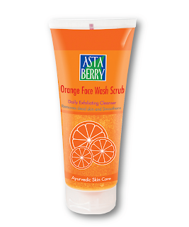Astaberry Orange Face Wash Scrub For Fairer Skin