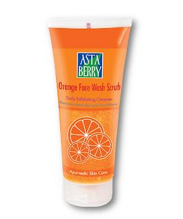 Astaberry Orange Face Wash Scrub For Fairer Skin