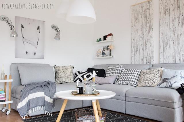 Bild Ikea Wohnzimmer Mit Fr 1 4 Hlingsfarben Inspiration Lapazca Homecakelove Neues Jahr Sofa Vallentuna My Love