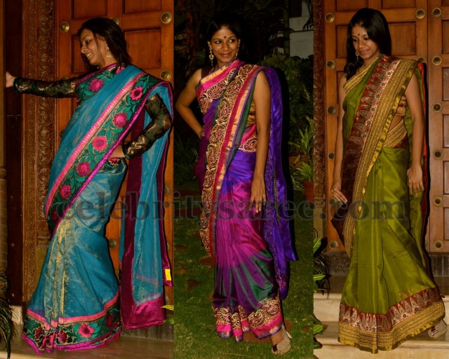 6dee5e9de2c26d Silk Kota Sarees in Multi Colors - Saree Blouse Patterns