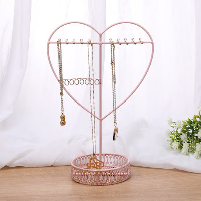 Shop this Metal Heart Shape Jewelry Display Organizer at Nile Corp