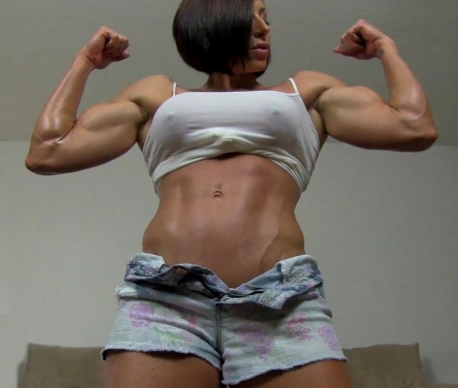 Muscle domination muscular women muscle worship