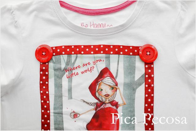 camiseta-personalizada-caperucita-roja-lazo-botones-niña-diy