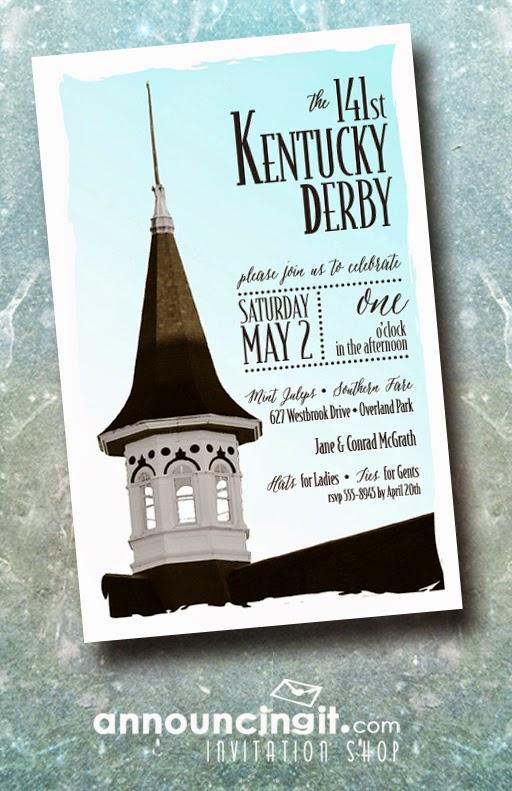 Churchill Spire Kentucky Derby Invitations from Announcingit.com | DerbyMe.com