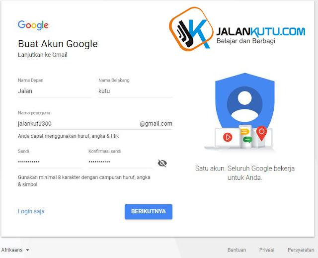 Cara bikin akun google/email
