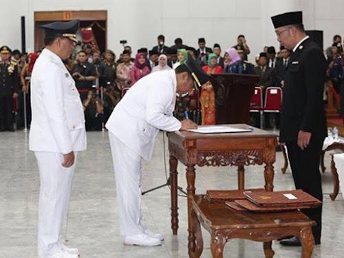 Pelantikan Walikota Bandung Oded M Danial