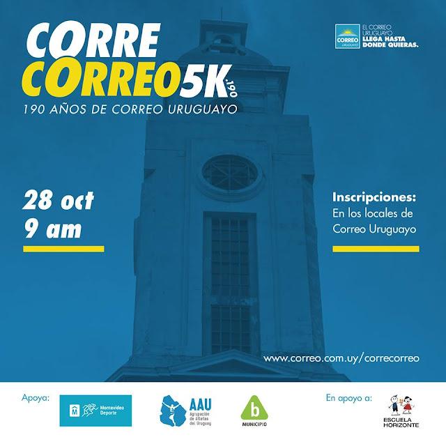 5k 190 mts Corre Correo Uruguayo (Rambla Sur, Montevideo, 28/oct/2017)