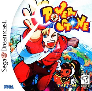 The front cover for the Sega Dreamcast game Power Stone by Capcom.