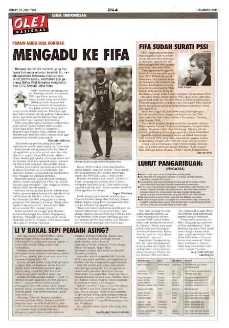 PEMAIN ASING SOAL KONTRAK MENGADU KE FIFA
