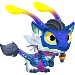 Appearance of Blue Alien Dragon when baby