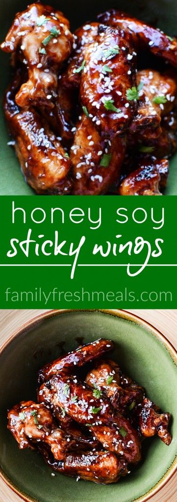 Honey Soy Sticky Chicken Wings #CHICKEN #SAUCE #DINNER #GLUTENFREE