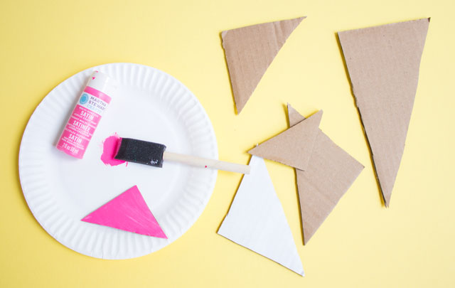 Cardboard crafts - turn a box into wall art!
