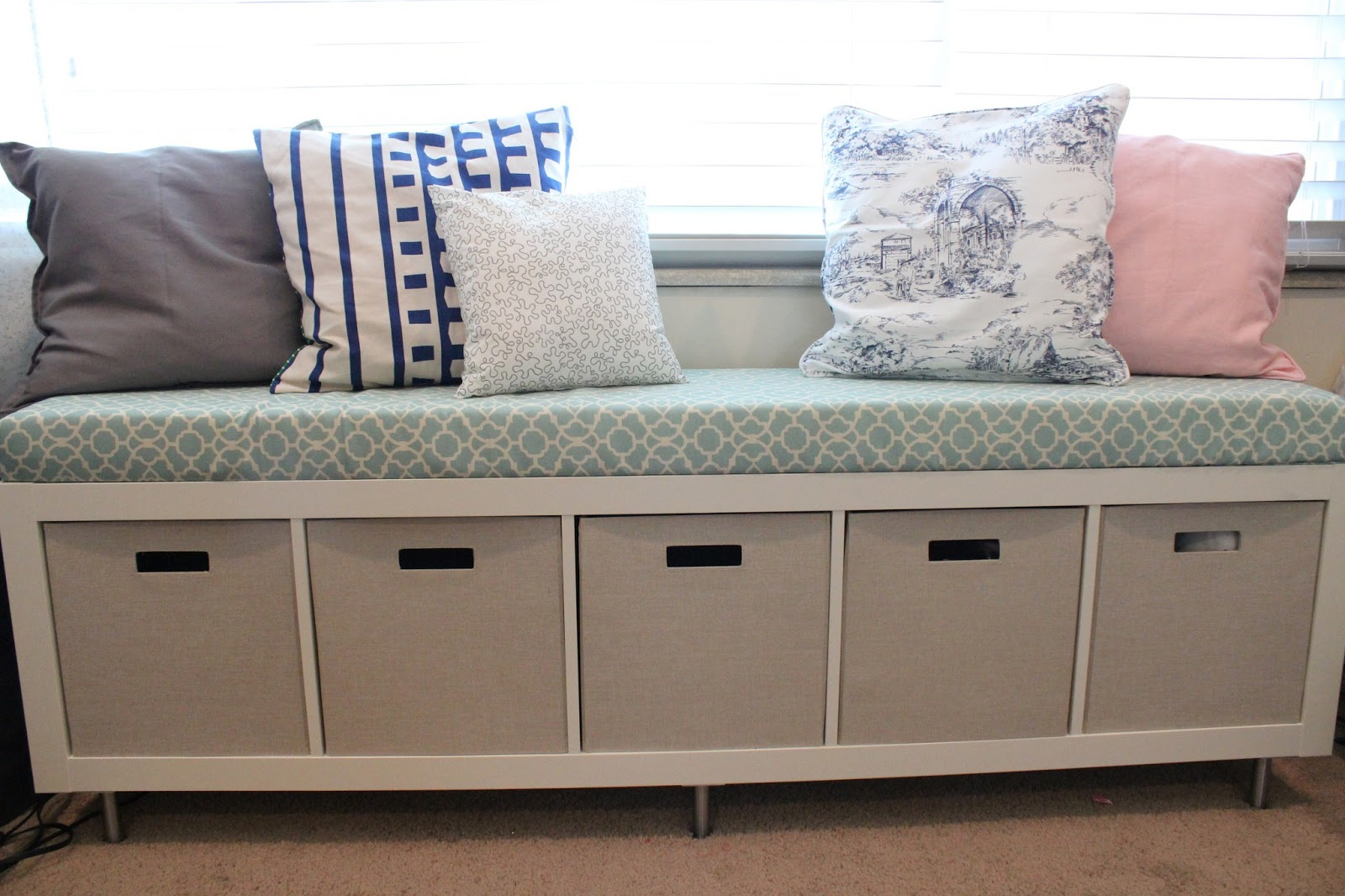 Diy Indoor Bench Seat Mommy Vignettes Ikea No Sew Window Bench Tutorial