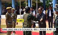 Mizoram Assembly passes Sinlung Hills Council Bill