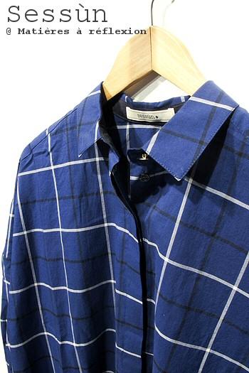 Sessùn chemise Delima bleu nuit