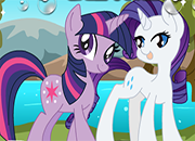 MLP Twilight Sparkle y Rarity Adventures juego