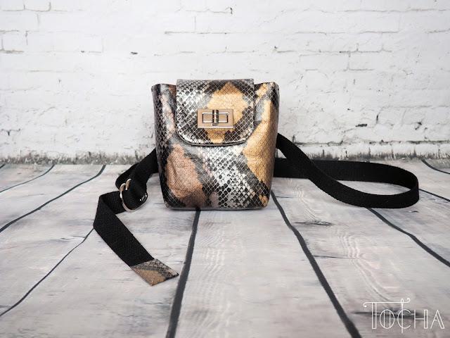 snakeskin, snake, Washpapa, washable paper, paper bag, vegan bag, hip-bag, purse, bum bag, waist bag, fanny bag, Marina Quilt, faux leather, vegan snakeskin, vegan purse, belt,