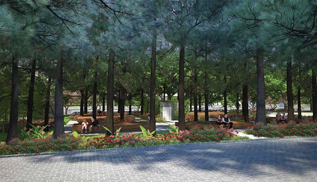 Khuôn viên dự án Athena Fulland