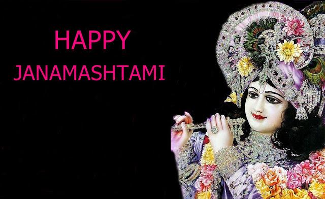 Best Shree Krishna Janmashtami  Wallpaper In Black Background