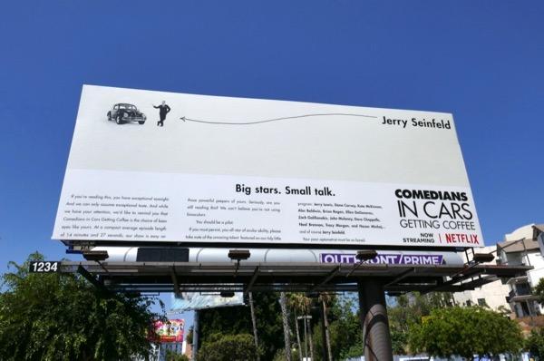 Comedians in Cars getting Coffee Netflix billboard
