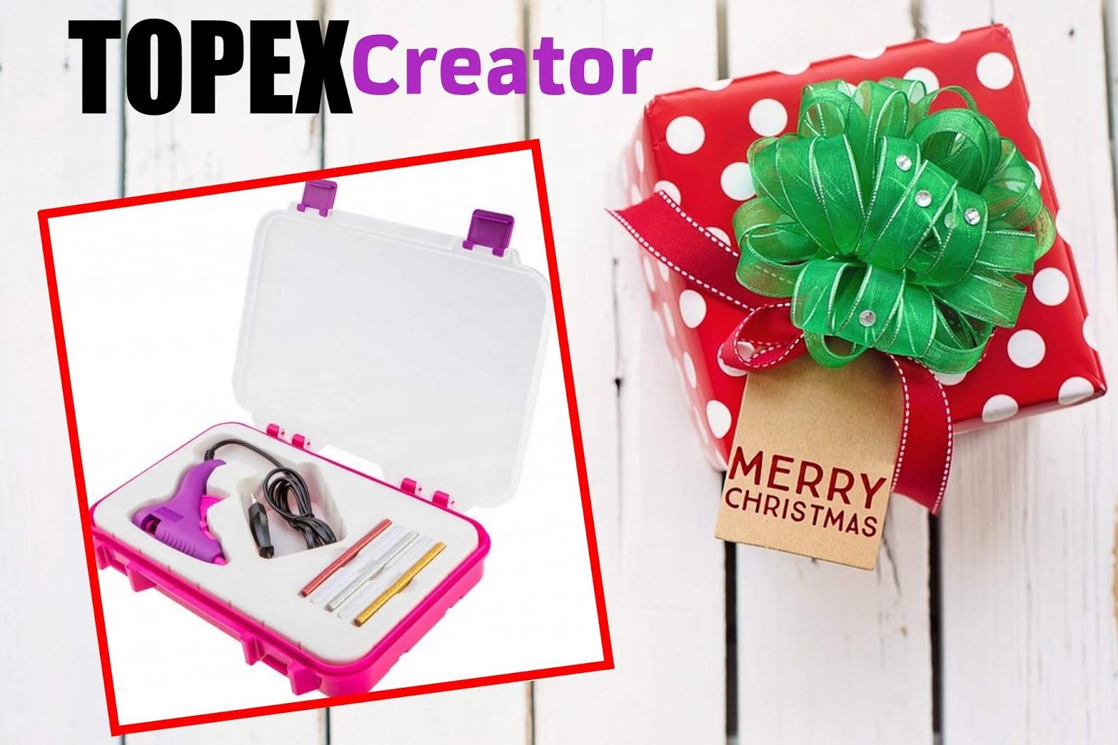 Topex creator - pistolet klejowy dla kobiet, idealny do tworzenia świątecznych dekoracji