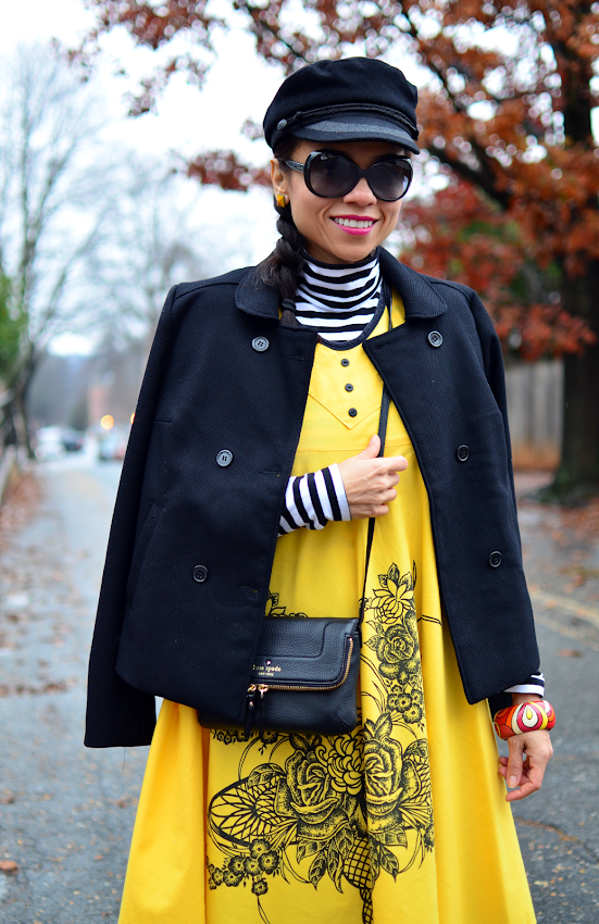 Yellow and black outfit