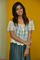 Eesha in a cute deep neck top and Skirt at at Big FM 107.JPG