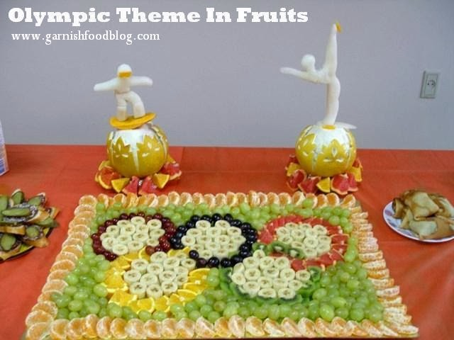olympic fruit carving
