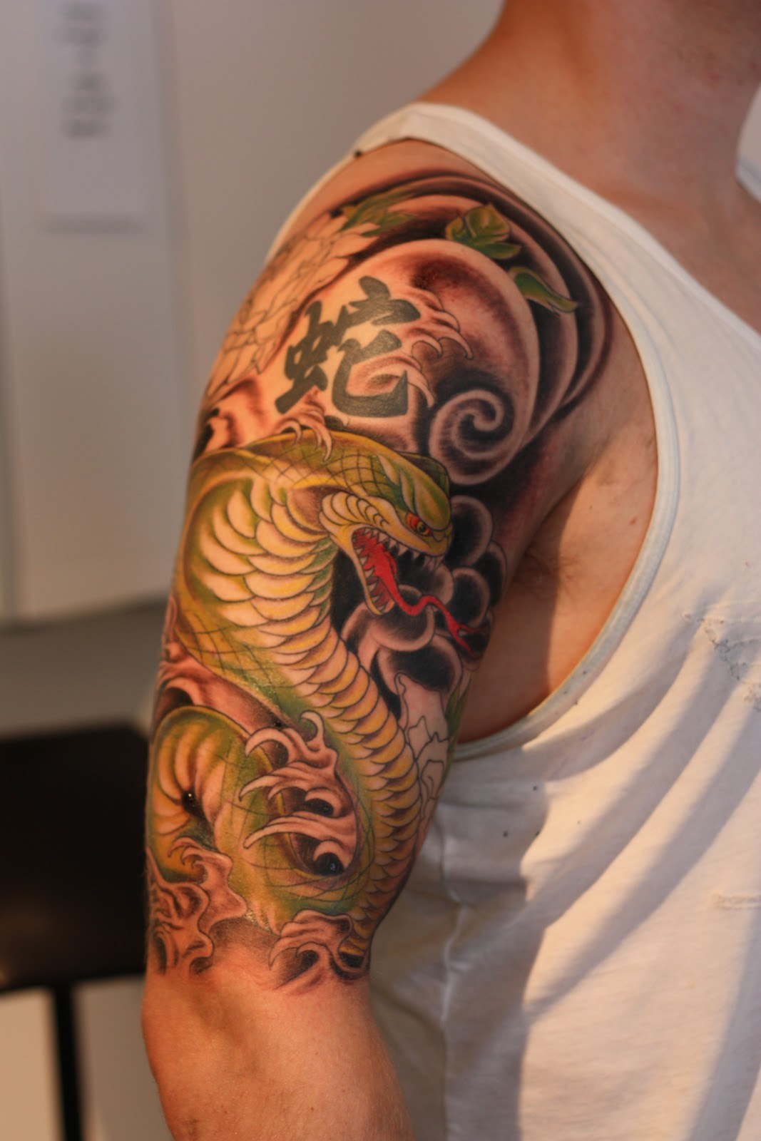 Tattoo Half Sleeve: INK TATTOO: Japanese Cobra Half Sleeve, #2